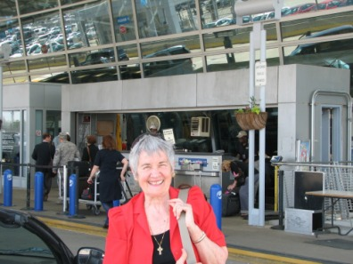 Ma at the airport